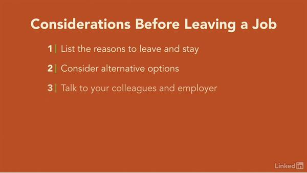 Welcome: Transitioning Out of Your Job