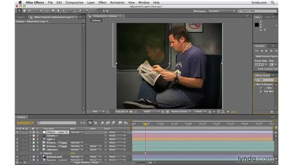 Working with adjustment layers: After Effects CS4 Beyond the Basics