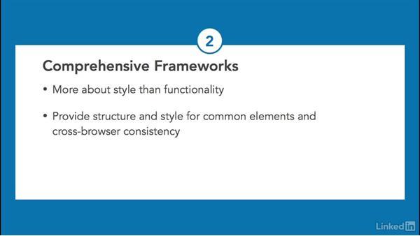 Types of frameworks: CSS: Frameworks & Grids