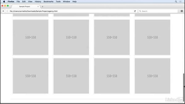 Setting up a starter page: CSS: Frameworks & Grids