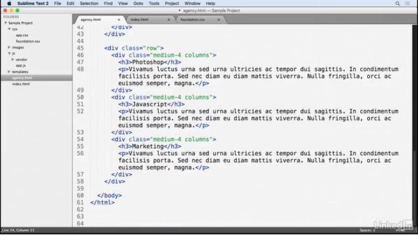 Add a custom footer: CSS: Frameworks & Grids