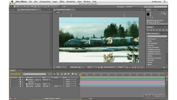Blending objects with a white background: After Effects CS4 Beyond the Basics