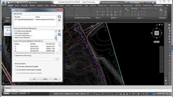 Create points by importing data: Cert Prep: AutoCAD Civil 3D Certified Professional