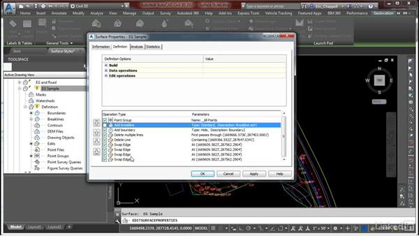 Use styles and settings to display surface information: Cert Prep: AutoCAD Civil 3D Certified Professional