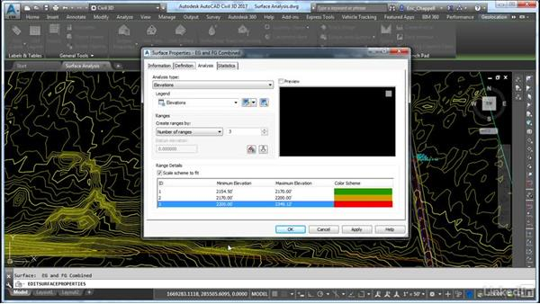 Use styles to analyze surface display results: Cert Prep: AutoCAD Civil 3D Certified Professional