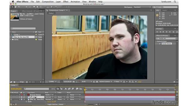 Comparing layers and frames with Difference: After Effects CS4 Beyond the Basics