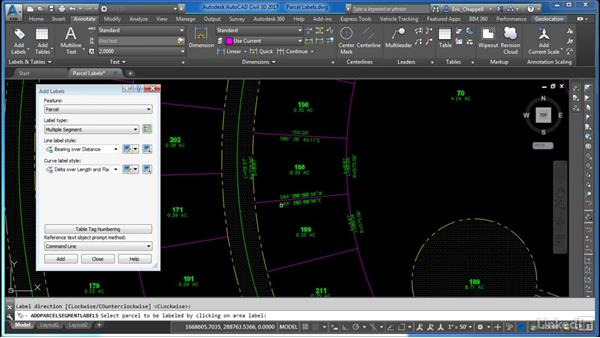 Select styles to annotate parcels: Cert Prep: AutoCAD Civil 3D Certified Professional