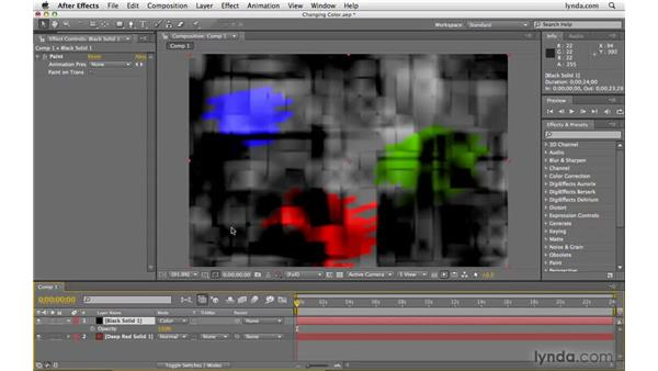 Changing the color of an object: After Effects CS4 Beyond the Basics