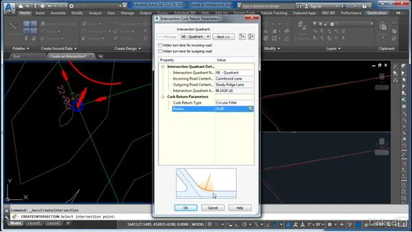 Design and create an intersection: Cert Prep: AutoCAD Civil 3D Certified Professional