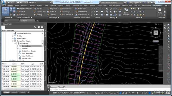 Create and analyze sections and section views: Cert Prep: AutoCAD Civil 3D Certified Professional