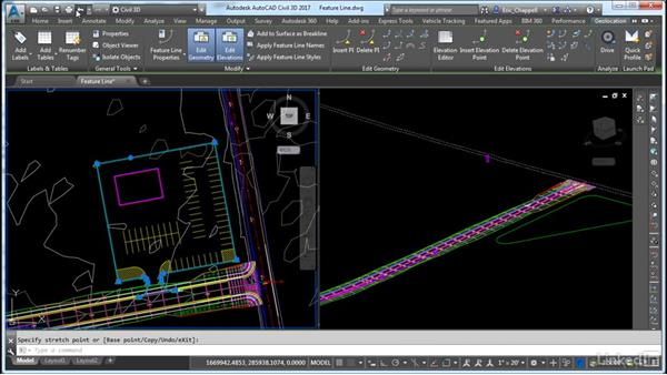 Create a grading model feature line: Cert Prep: AutoCAD Civil 3D Certified Professional