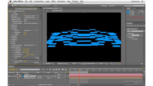 Controlling effects with other layers: After Effects CS4 Beyond the Basics