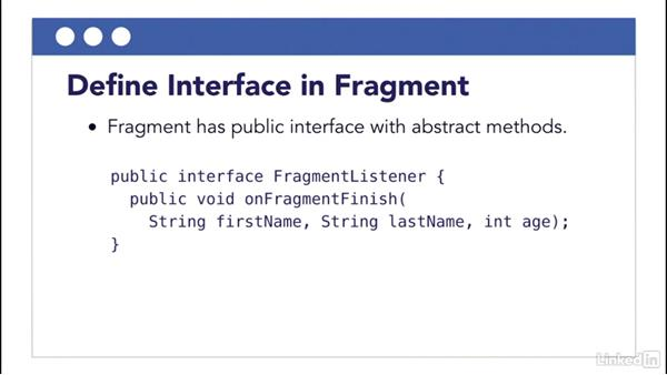 Java interfaces and callback methods: Building Flexible Android Apps with the Fragments API