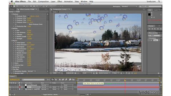Creating snow with Foam: After Effects CS4 Beyond the Basics