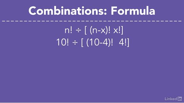Combinations: Permutations without regard for order: Statistics Fundamentals - Part 1: Beginning