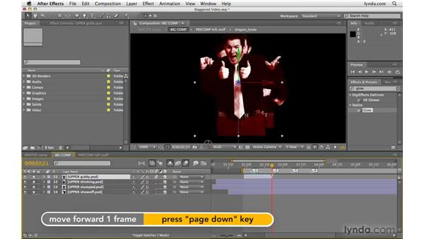 Creating staggered video with photos: After Effects CS4 Beyond the Basics