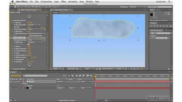 Creating clouds and fog: After Effects CS4 Beyond the Basics