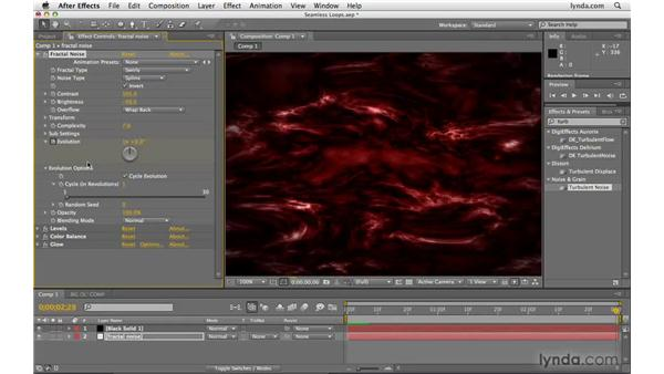 Looping animated textures: After Effects CS4 Beyond the Basics