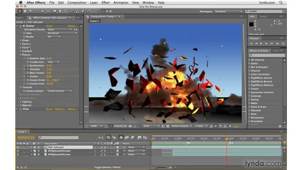 Creating the slow motion matrix effect: After Effects CS4 Beyond the Basics