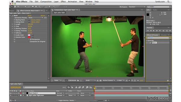 Creating a lightsaber: After Effects CS4 Beyond the Basics