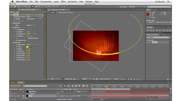 "Making ""whips"" of light: After Effects CS4 Beyond the Basics"