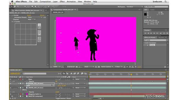 Making silhouettes in After Effects: After Effects CS4 Beyond the Basics