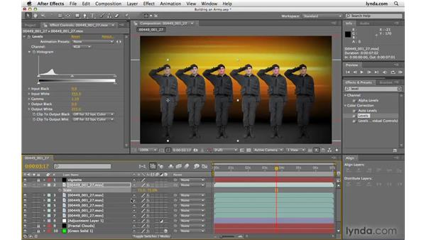 "Creating an ""army"": After Effects CS4 Beyond the Basics"