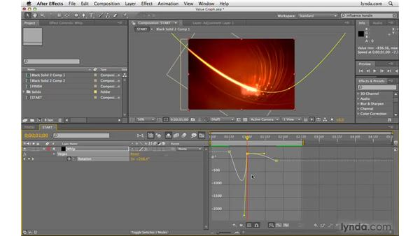 Adjusting value in the Graph Editor: After Effects CS4 Beyond the Basics