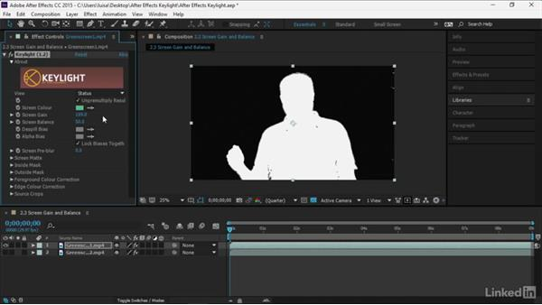 Screen Gain and Screen Balance: After Effects Guru: Keying with Keylight