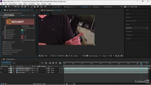 Despilling: After Effects Guru: Keying with Keylight