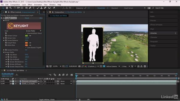 Clip Black and Clip White: After Effects Guru: Keying with Keylight