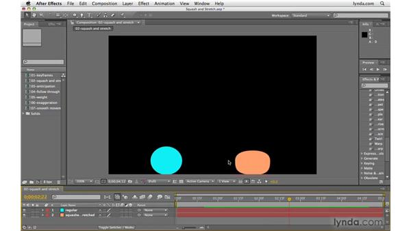 Squashing and stretching objects: After Effects CS4 Beyond the Basics