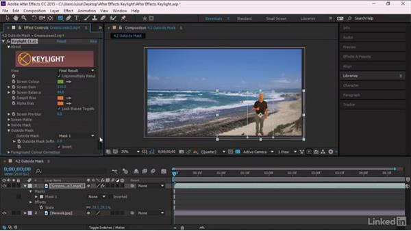 Outside Mask: After Effects Guru: Keying with Keylight