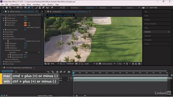 Color suppression and balancing: After Effects Guru: Keying with Keylight