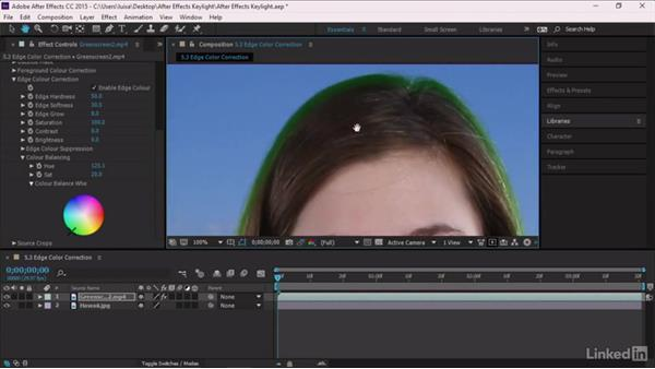 Edge Color Correction: After Effects Guru: Keying with Keylight