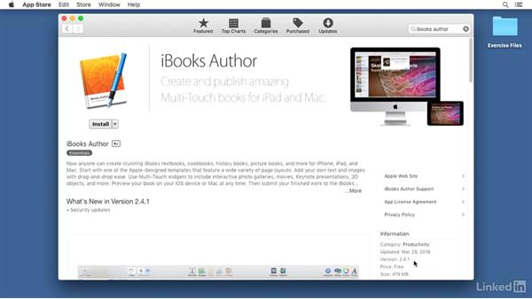 Installing iBooks Author: Learn iBooks Author 2016: The Basics