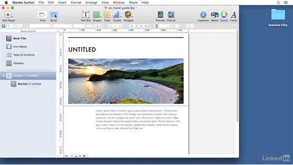 Understanding the interface: Learn iBooks Author 2016: The Basics