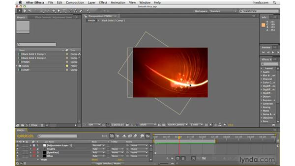 Creating smooth arcs: After Effects CS4 Beyond the Basics