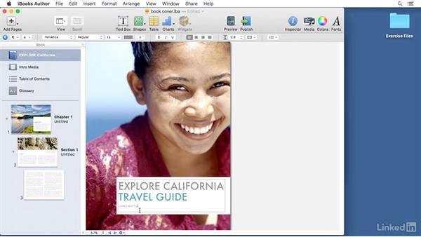 Creating a book cover: Learn iBooks Author 2016: The Basics