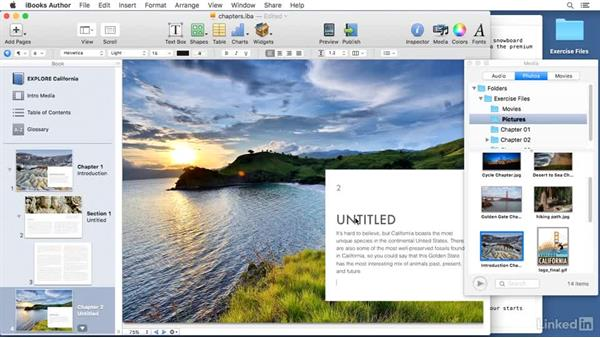 Creating chapters: Learn iBooks Author 2016: The Basics
