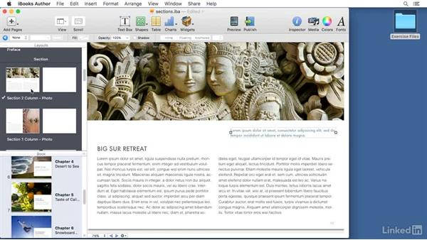 Creating sections: Learn iBooks Author 2016: The Basics