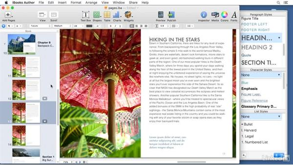 Creating pages: Learn iBooks Author 2016: The Basics