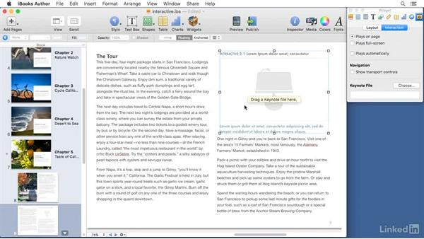 Adding interactive content: Learn iBooks Author 2016: The Basics