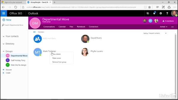 Manage members of a group: Learn Office 365 Groups: The Basics