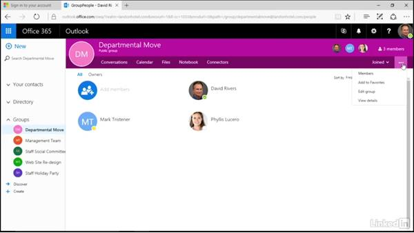 Leave or delete a group: Learn Office 365 Groups: The Basics