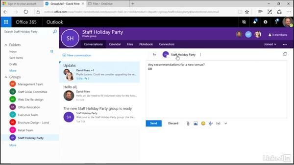 Add an outsider to a conversation: Learn Office 365 Groups: The Basics