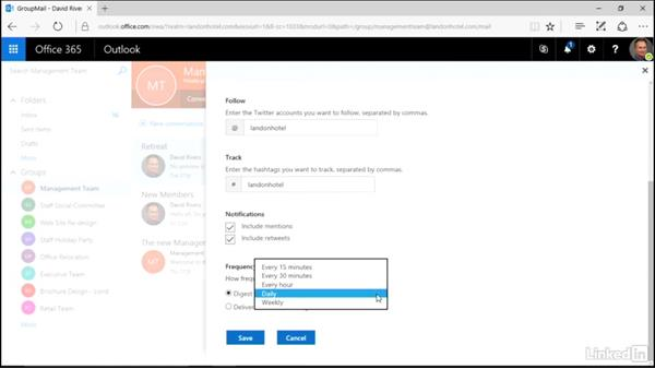 Connect a tool or service to a group: Learn Office 365 Groups: The Basics