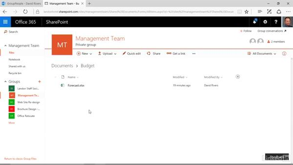 Share a file externally: Learn Office 365 Groups: The Basics