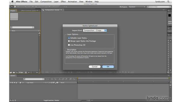 Converting layer styles: After Effects CS4 Beyond the Basics