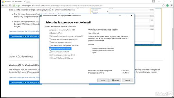 Windows Performance Toolkit installation: Windows Performance Toolkit: Spyware Detection